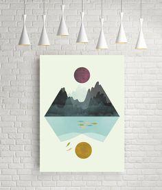 Minimalist art minimalist print minimalist wall art  by FLATOWL