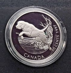 Canada 1997  50 Cents Labrador Retriever Dog Sterling Silver