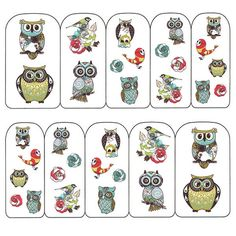 Nail Art Water Decals Sticker - Pop Decals - Retro Owls – Daily Charme