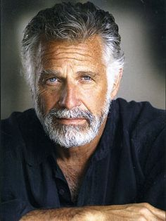 """Jonathan Goldsmith aka""""The most interesting man in the world."""" What a handsome man! Jonathan Goldsmith, Look Man, Silver Foxes, Renaissance Men, Hommes Sexy, Ageless Beauty, Mature Men, Interesting Faces, Beard Styles"""
