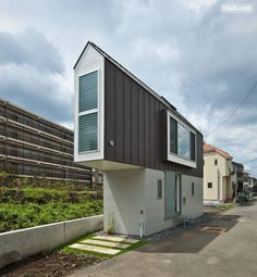 Architect designs tiny flats to stand on stilts above car parks   My     This is the Horinouchi House in Tokyo  Japan  The house was designed by  Mizuishi Architect Atelier to make the most of a very modest plot of land