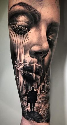 Beautiful Surrealist Double-Exposure Tattoos Mash Up People, Architecture & Nature Beautiful Surrealist Double-Exposure Tattoos Mash Up People, Architecture & Nature,Tattoos beautiful face morph tattoo © tattoo artist Michael Zammit 💟💟💟💟💟💟 Face Tattoos For Women, Girls With Sleeve Tattoos, Best Sleeve Tattoos, Tattoos For Kids, Tattoo Sleeve Designs, Nature Tattoos, Body Art Tattoos, Girl Face Tattoo, Neck Tattoos