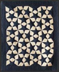 """Estrellas Escher"", Septiembre 2009. Artepatchwork (Spain).171x205 cms. This seemingly complex design is actually made with 20 identical blocks."
