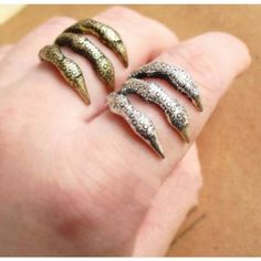 Fashion Punk Style Sharp Texture Eagle Claw Ring
