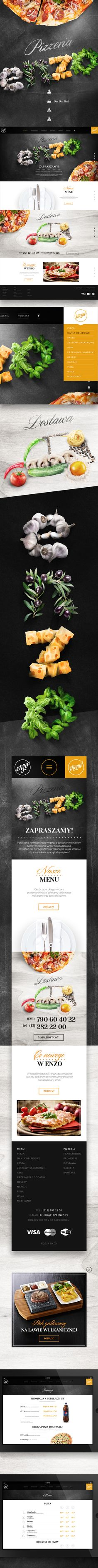 Pizzeria ENZO on Behance | #webdesign