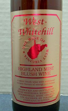 West Virginia (West-Whitehill Winery Highland Mist)  Read about it here: http://ofmaltandmerlot.tumblr.com/