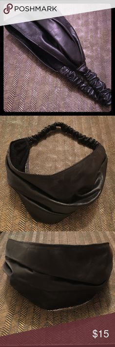 Leather headband Black wide band leather headband by Frank and Kahn from Nordstrom. New unworn condition. Accessories Hair Accessories