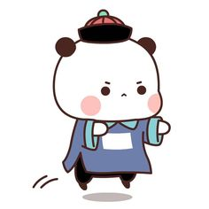 Little Bear Cartoon, Little Panda, Cute Love Gif, Cute Cat Gif, Kawaii Drawings, Cute Drawings, Panda Art, Kawaii Doodles, Cute Cartoon Wallpapers