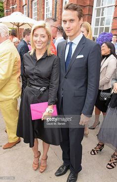 Princess Marie Chantal of Greece (L) and Arthur Wellesley, Marquess of Douro, attend The Ralph Lauren & Vogue Wimbledon Summer Cocktail Party hosted by Alexandra Shulman and Boris Becker at The Orangery at Kensington Palace on June 22, 2015 in London, England.