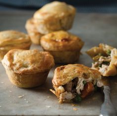 A recipe for gorgeous muffin-tray chicken pies from Jon Hey Pie Recipes, Chicken Recipes, Cooking Recipes, Recipies, Good Food, Yummy Food, South African Recipes, Iftar, Delish