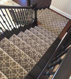 Image result for staircase carpeting greys blues
