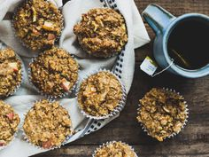 Apple & Honey Oatmeal Muffins - Dishing Up the Dirt