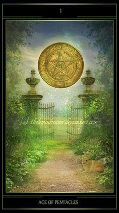 Ace of Pentacles - Thelema Dream Tarot