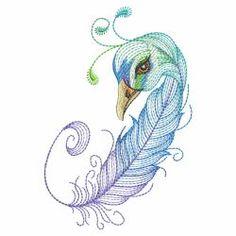 Bird Feathers 05(Sm) machine embroidery designs