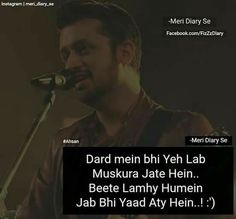 # Anamiya khan Song Lyric Quotes, Best Song Lyrics, Best Songs, Movie Dialogues, Like This Song, Secret Love Quotes, Dear Best Friend, Lonliness, Atif Aslam