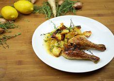 Kuřecí stehýnka na tymiánu recept - TopRecepty.cz Chicken, Meat, Food, Essen, Meals, Yemek, Eten, Cubs