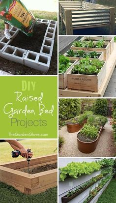 For those who like to grow their own fruits, veggies and spices. DIY Raised Garden Beds  Ideas  Tutorials!