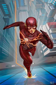 The Flash Grant Gustin by Hamlet Román.......!!!!