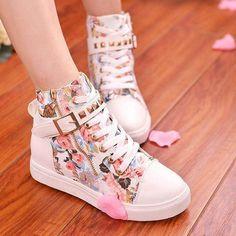 High Top Zipper Shoes