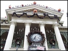 Haunted Mansion all decked out for Halloween
