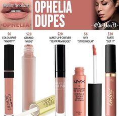 Kat Von D liquid lipstick dupe in the shade Ophelia // Kayy Dubb
