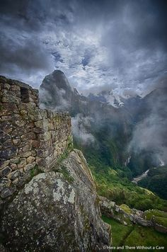 Machu Picchu on a cloudy day... http://hereandtherewithoutacare.com/machu-picchu-finding-your-spiritual-self-in-the-lost-city/ #PeruBoutiqueTravel #BoutiqueTravel