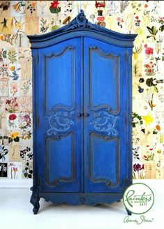 restored4u. Annie Sloan Napoleonic Blue with Aubusson Blue, Honfleur for accent