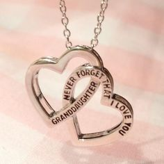 Exclusive: 'Granddaughter, never forget that I love you' 2 heart Necklace