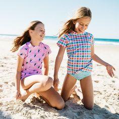 Pink Toucan Short Sleeve Rashie – Sandy Feet Australia