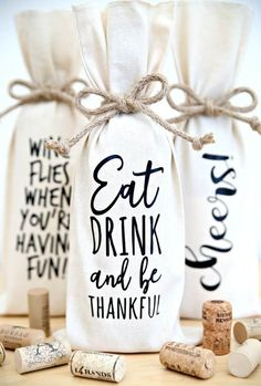 Decorate Your Own Wine Bottle Bags Hostess Gift