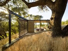 Walker Warner Architects create wine-tasting pavilions in Napa Architecture Durable, Pavilion Architecture, Sustainable Architecture, Amazing Architecture, Landscape Architecture, Residential Architecture, Architecture Details, Portola Valley, Pavillion