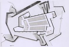 Tuskegee Chapel - Floor Plan by kelviin Paul Rudolph Architect