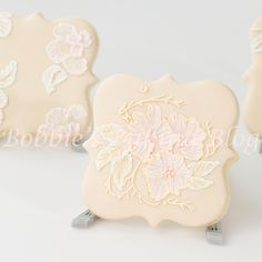 Add elegance to your day with victorian brush embroidery sugar cookie!