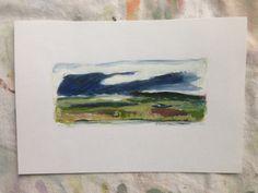 Blue Cloud - Original Art - Maine Landscape - Olivia Atherton by theRandoMshoE on Etsy
