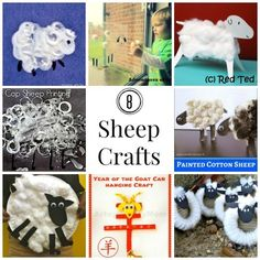 Sheep Crafts for Kids- great for Easter, spring, Chinese New Year, Eid, etc, etc! Sheep are so cute :)