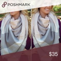 Gorgeous Blanket Scarf!!! Gorgeous Blanket Scarf!!! New in packaging. Obsessed with this color, keeping one so only 1 to sell!!! Accessories Scarves & Wraps