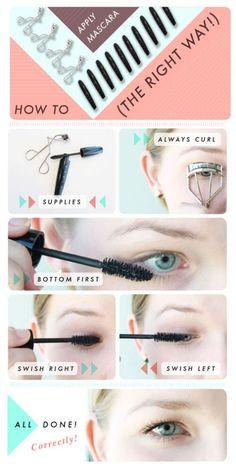 Applying mascara the right way. #lashes #eyelashes #mascara #tutorial #howto…
