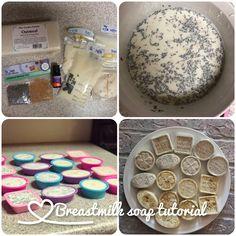 Lye free breastmilk soap