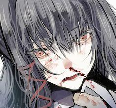 Anime Art Girl, Manga Girl, Manga Anime, Anime Girls, Aesthetic Drawing, Aesthetic Anime, Arte Obscura, Juuzou Suzuya, Dark Anime