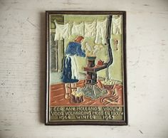 Rare Cloisonne Tile Vintage Delft De Porceleyne Fles War & Resistance The Stove 1944 1945 #romaarellano