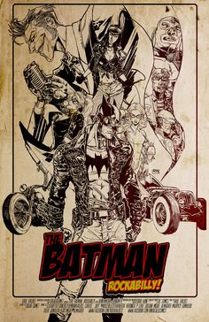 Batman Rockabilly! by Rulo Valdes #GaneschaBotTest