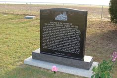 Tombstone Tuesday -- Cemetery Marker for Bergthal Mennonite Church 1875-2013