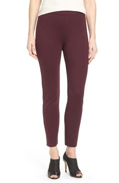 Halogen® Side Zip Ponte Ankle Pants (Regular & Petite) available at #Nordstrom