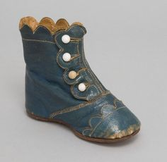 Late 19th century Child's High-Top Shoe. Made in United States, North and Central America.