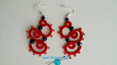 Check out this item in my Etsy shop https://www.etsy.com/listing/215251798/needle-tatted-crochet-red-earrings-with