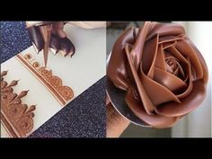 Amazing Cakes Decorating Techniques 😘 Most Satisfying Chocolate Cake Decorating Cake Decorating Videos, Cake Decorating Techniques, Chocolate Art, How To Make Chocolate, Magic Chocolate, Cookies Et Biscuits, Cake Cookies, Chocolate Garnishes, Cake Pops How To Make
