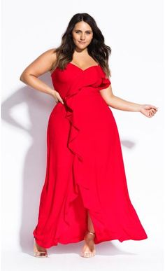 f47c8c23e85 Catalina Maxi Dress - red--city chic Платья Для Полных