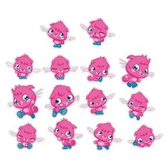 Moshi Monsters Wall Graphics from WALLS 360: Poppet Set (Set of 14)
