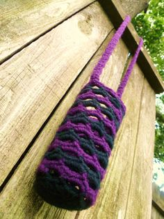 Purple and Black Water Bottle Holder by Ravy17CrochetDesign, $11.95