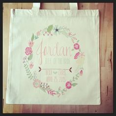Checkout this adorable custom design bridal party tote! #bride #bridetobe #bridesmaid #bridalparty #bridesmaids #bff #wedding #weddingparty #weddingfavor #weddingthanks #wedding #floral #flowers #ilulilydesigns